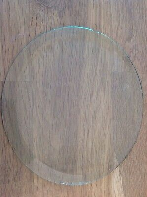 Vintage Clock Glass Round Flat 148mm 10mm Bevel