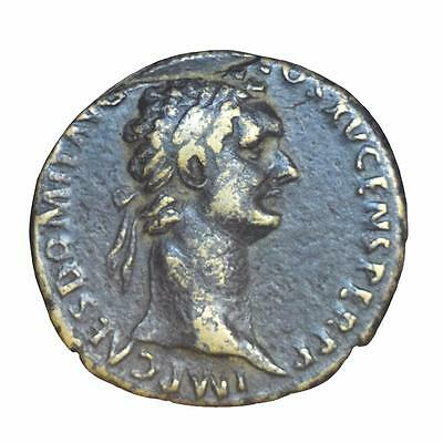 Domitian bronze As minted Rome 91 AD