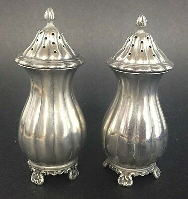 Pair Of English Sterling Silver Salt And Pepper Shakers - Birmingham 1936