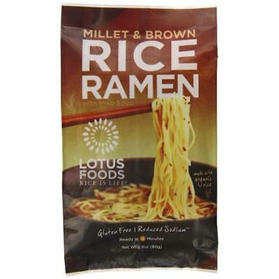 Lotus Foods Rice Ramen Noodles Millet And Brown Rice With Miso Soup (Pack of 10)