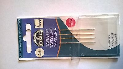 Size 24 Dmc Tapestry Needles Pack Of Four 6130/12 Free Uk Postage And Packaging
