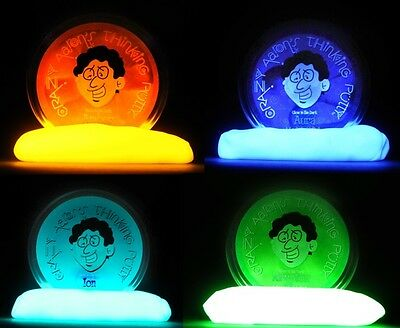 Crazy Aaron's Thinking Putty Glow in the Dark Small Tins Amber Aura Ion Krypton