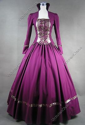 Victorian Gothic Fantasy Game of Thrones Gown Period Dress Cosplay Costume N 111