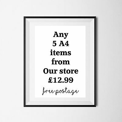 Inspirational Quote Quality Poster Art Print A4 Typography Decor gift wall decor
