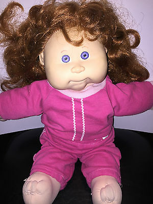 Vintage 1980s Coleco TALKING cabbage patch KIDS doll WORKING RED HAIR BLUE EYES