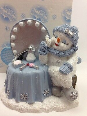 Snow Buddies Make Up Vanity Figurine