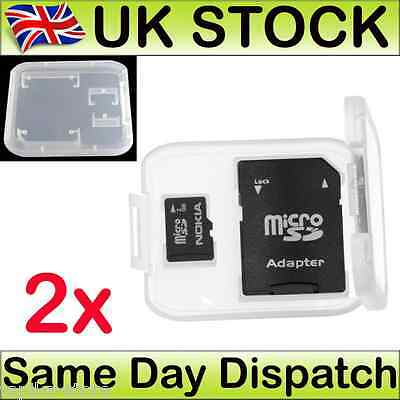 Card Box Memory Sd Case Storage Holder Micro Tf Sdhc Protector Plastic New x 2