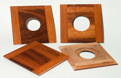 """1 LENS BOARD 4 x 4"""" FOR WISNER, or CALUMET VIEW 4x5 made of Tigerwood, free hole"""