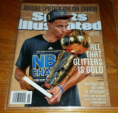 STEPHEN CURRY signed autographed SPORTS ILLUSTRATED MAGAZINE G.S WARRIORS w/COA