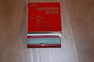 Empty Matchbook, Fire Protection Review 1965