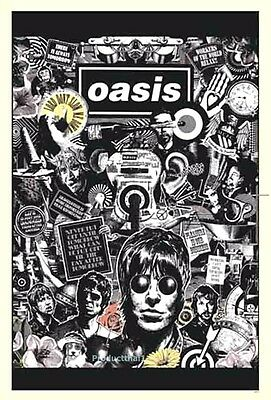 "OASIS ENTERTAINMENT THE POSTER SHEET 24""x36"" MUSIC ROCK CONCERT NEW 1 SIDE PM57"