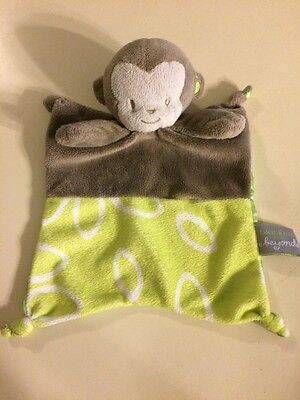 Blankets And Beyond Monkey Green Nunu On The Go Lovey