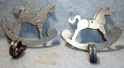 Two Colonial Rocking Horse Wall Hangers