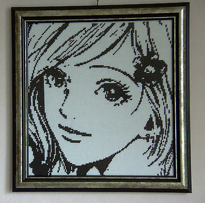 Girl - Finished framed completed Cross Stitch