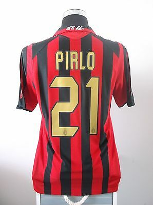 Andrea PIRLO #21 AC Milan Home Football Shirt Jersey 2005/06 (M)