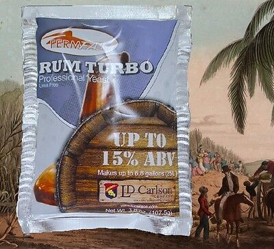 FERMFAST RUM TURBO PURE DISTILLERS YEAST w/AG300 FOR MOLASSES AND CANE SUGAR 15%