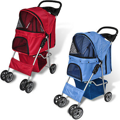 #bNew Dog  Pet Trailer Dog Cat Medium Animal Carrier Cart Stroller Two Colours