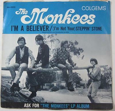 The Monkees Im A Believer Im Not Your Steppin Stone Colgems 45