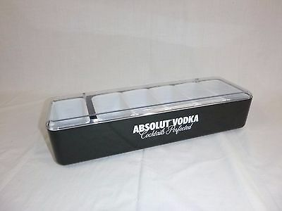 Absolut Vodka Plastic Bar Condiment Bloody Mary Tray  w/ 6 Cups Advertising #1