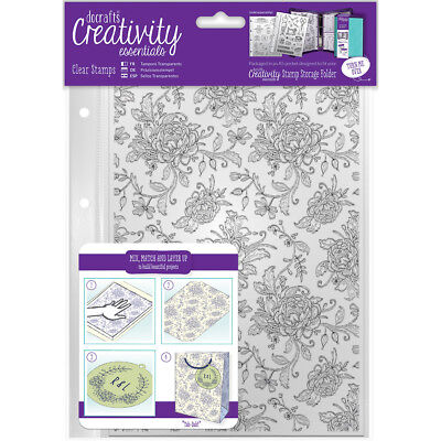 Creativity Essentials A5 Clear Background Stamps-Floral