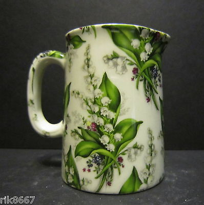 Heron Cross Pottery Lilly Of The Valley Chintz English 1/4 Pint Cream Jug