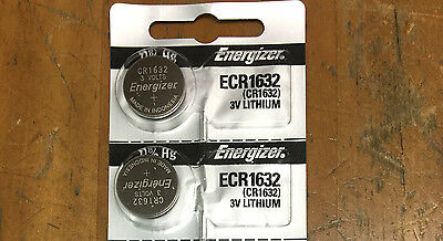 (2pcs)Energizer Batteries ECR1632 CR 1632 3V Lithium Battery 0%HG