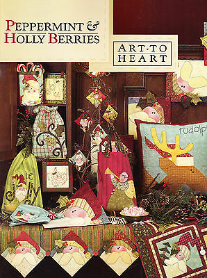 Peppermint & Holly Berries - fun Christmas applique project book - Art to Heart