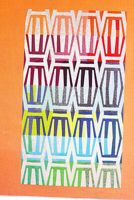 SALE - Stripes - modern foundation pieced quilt PATTERN - Carolyn Friedlander