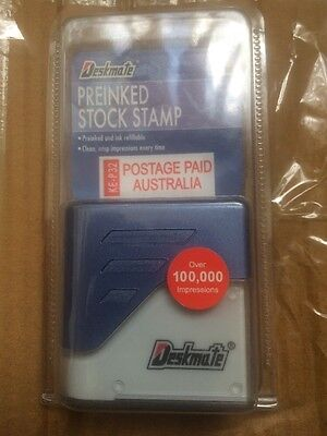 Stamp Postage Paid Australia imprint pre-inked for business AusPost stamp Red