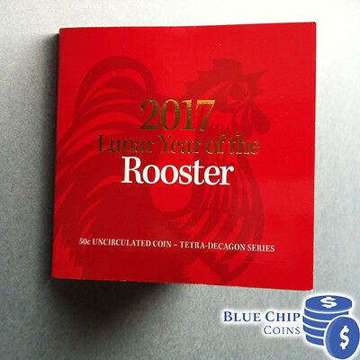 2017 UNC 50c RAM Year Of The Rooster Coin In Folder
