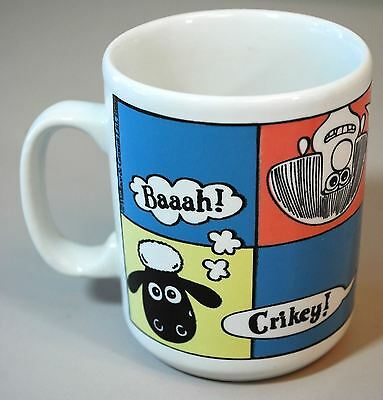 Wallace & Gromit Coffee Mug - Vintage 1989 - Shaun the Sheep