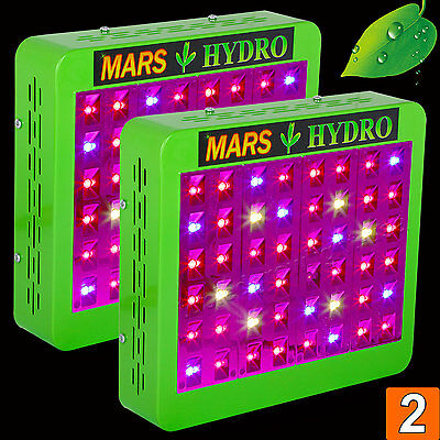 2PCS Mars Reflector 240W Led Grow Light Panel Lamp Hydro Indoor Plant Veg Bloom