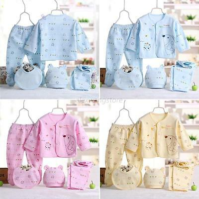 5pcs/set Newborn Toddler Infant Baby Boy Girl Clothes Outfits Costume Apparel