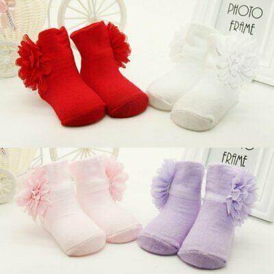 0-6M Kids Baby Girl Newborn Toddler Infant Soft Sole Crib Socks Booties Shoes
