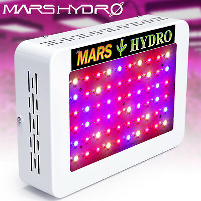 Mars 300W LED Grow Light Panel Full Spectrum Hydroponics Indoor Plant Veg Flower
