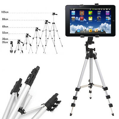 Universal Portable Camera Tripod Stand + Holder For iPad 4/3/2 mini Air Pro+Bag