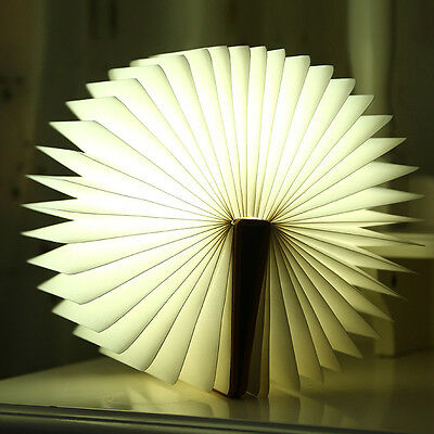 NEW Flip Folding Book Light Foldable LED Lamp 5 Color USB Rechargeable Booklight