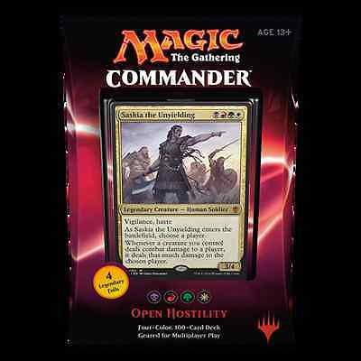 MTG COMMANDER 2016 * Open Hostility (WBRG)