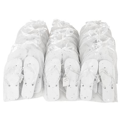 Zohula White Wedding Party Pack - 20 Pairs Flip Flops - Including Bags and Tags