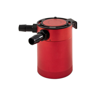 Mishimoto Compact Baffled Oil Catch Can - 2 Port - Red