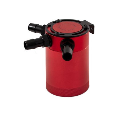 Mishimoto Compact Baffled Oil Catch Can - 3 Port - Red