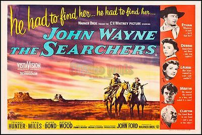 The Searchers John Wayne Classic Repro Movie Poster Photo All Sizes : #UC1064