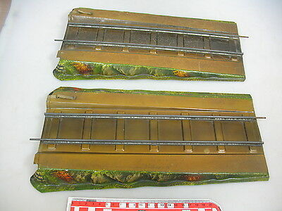 AO828-0,5# 2x Märklin 1 gauge sheet metal ramps for Bridges/Truss bridge