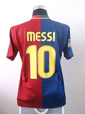 Lionel MESSI #10 Barcelona Home Football Shirt Jersey 2008/09 (M)