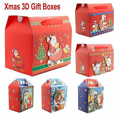 New Stylish Christmas Festive Gift 3 D Xmas Party Wrapping Novelty Paper Boxes