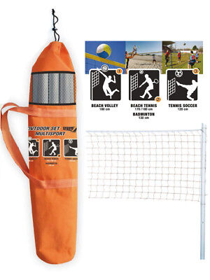 Campo rete portatile Outdoor set multisport Beach Volley Tennis SPORT ONE sacca