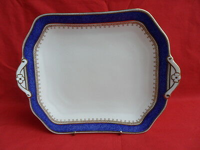 Cauldon, Powder Blue & Gold - Cake Plate or Serving Plate - STUNNING