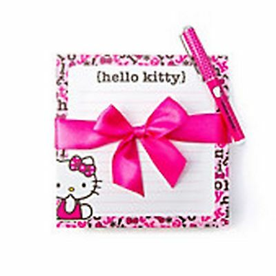 Hello Kitty Notepad and Pen Set - NEW
