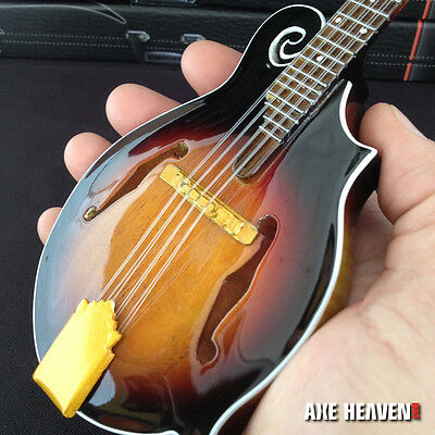 Classic Folk Bluegrass Mandolin Miniature Handmade Replica - Free Shipping in US