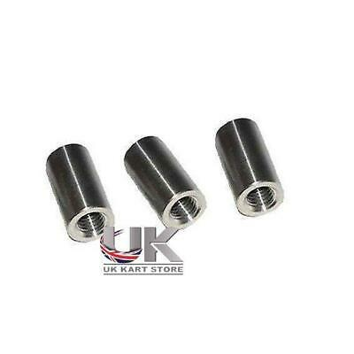 Pack of 3 x M8 Barrel Nuts for Wheel Hubs  UK KART STORE